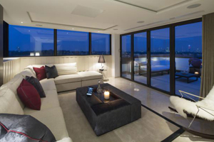 A penthouse apartment